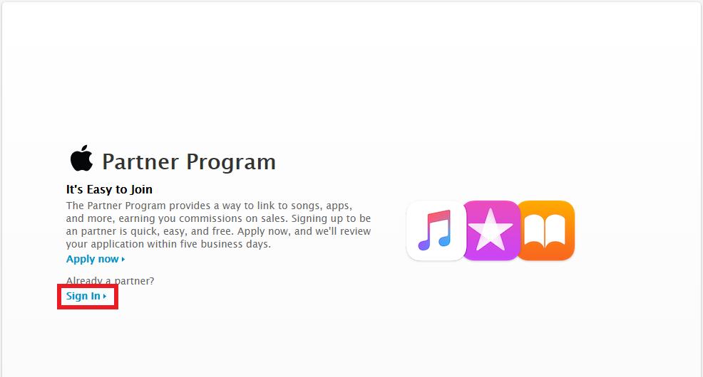 iTunes アフィリエイト ログインできない